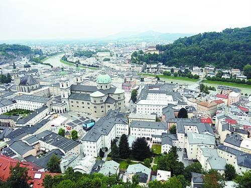 俯瞰萨尔茨堡老城区
