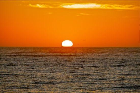 落日的美景