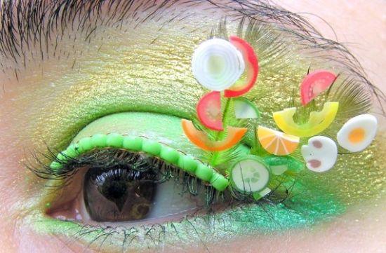 组图:睫毛上的甜品让你欲罢不能的出位眼妆