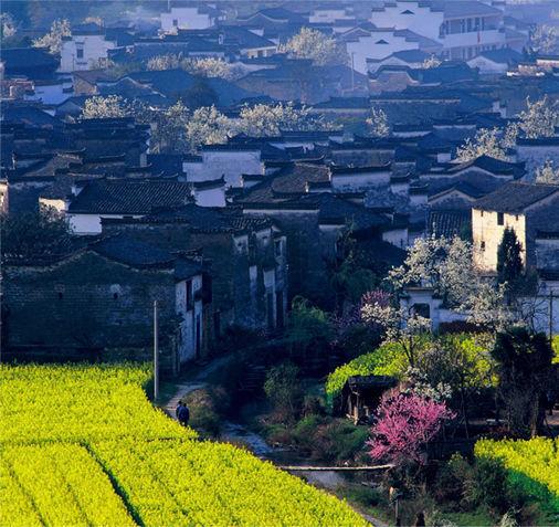 江岭景区下方的庆源村