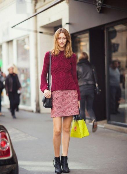 组图:春天降临街拍潮流女性性感韵味露腿裙