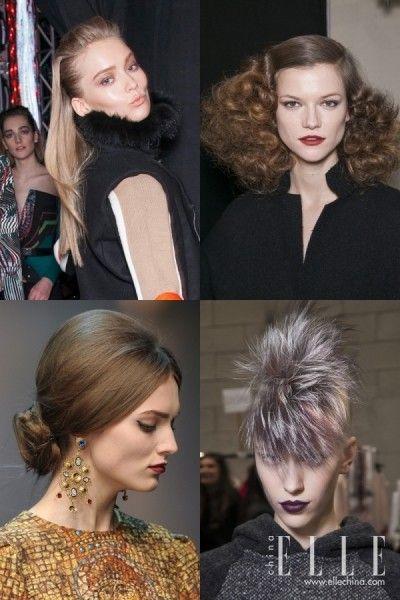 组图:头发甩甩大步走台盘点T台最佳发型精选