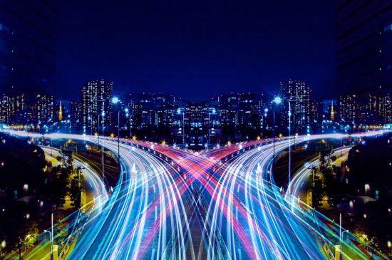 车水马龙的城市