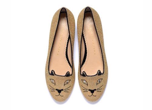 青春的缤纷设计猫咪鞋