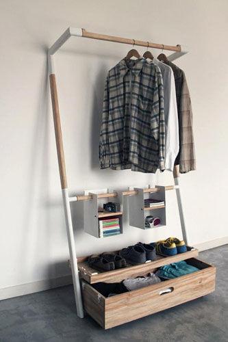 移动式衣柜收纳衣物新方法