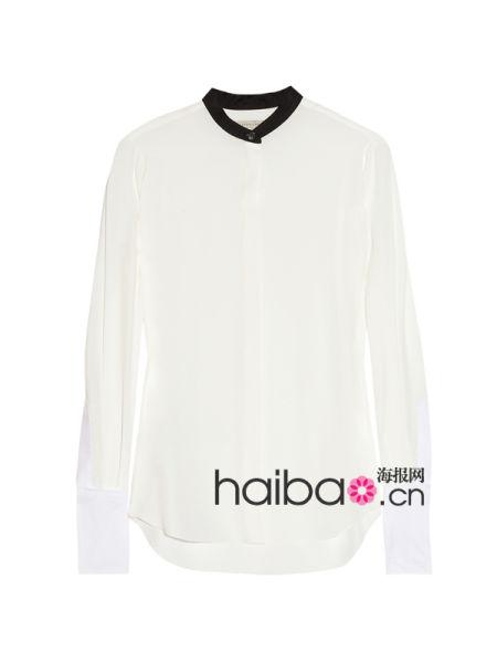 维多利亚·贝克汉姆 (Victoria Beckham) 双色针织衬衫