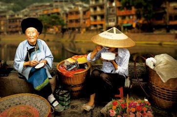 卖花的老奶奶