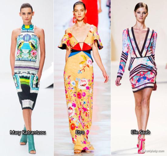 组图:花花世界最俏丽的印花裙绽放春夏街头