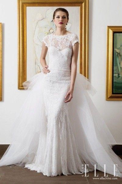 Zeina Kash这季婚纱在裙摆设计上大作文章,堆砌、廓型、倒钟形剪裁、立体花朵,为婚纱带来丝丝现代感。而不同的面料,为新娘带来很大选择范围。复古感觉的缎面、梦幻的网眼薄纱、硬朗的欧根纱......根据需求和喜好选择一款适合的婚纱。