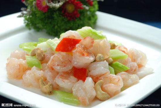 美食菜谱:辣椒炒豆苗(猪肉)韩式干附图炒虾片图片