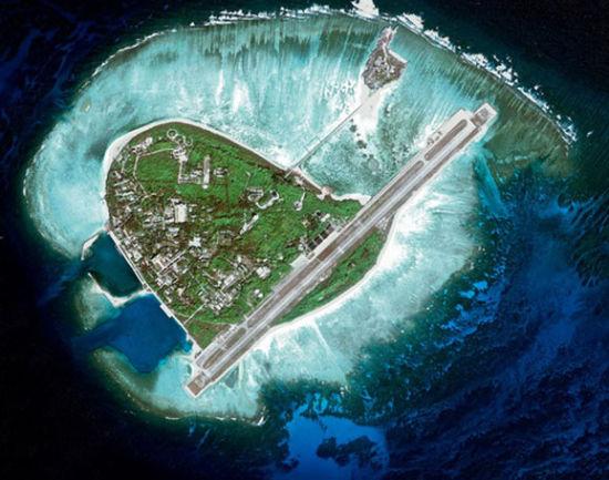 刚刚开放旅游的西沙群岛永兴岛全貌