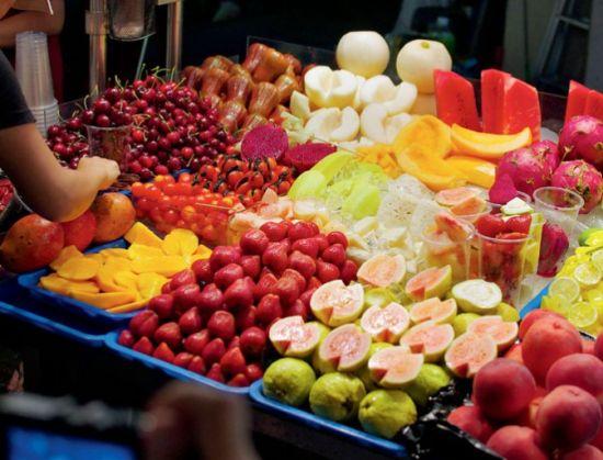 品种丰富的台湾水果