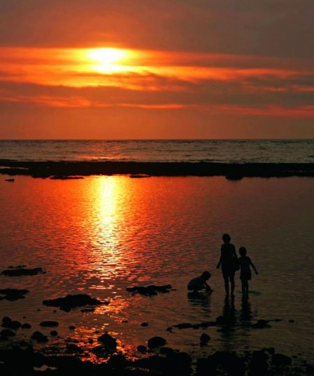 北海岸的夕阳风光
