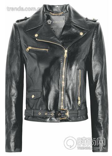 黑色皮革机车夹克