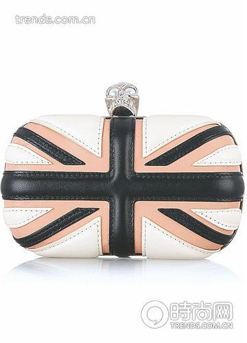 英伦图案装饰手包
