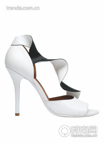 荷叶边装饰高跟鞋 Balenciaga
