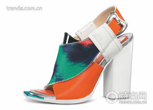印染装饰粗跟鞋 Kenzo
