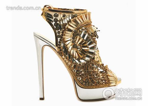 亮片螺旋形装饰及踝靴 Dsquared2