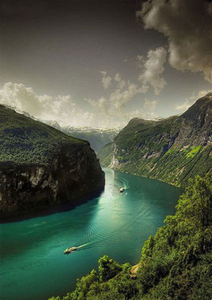 清澈的挪威峡湾是一笔巨大的自然财富