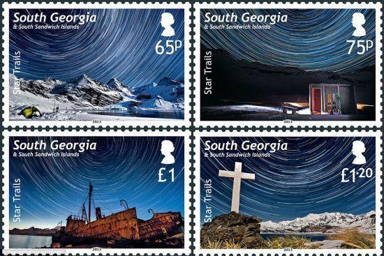 南极星空邮票
