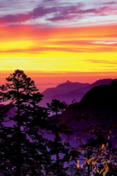 合欢山顶的景色也是非常棒