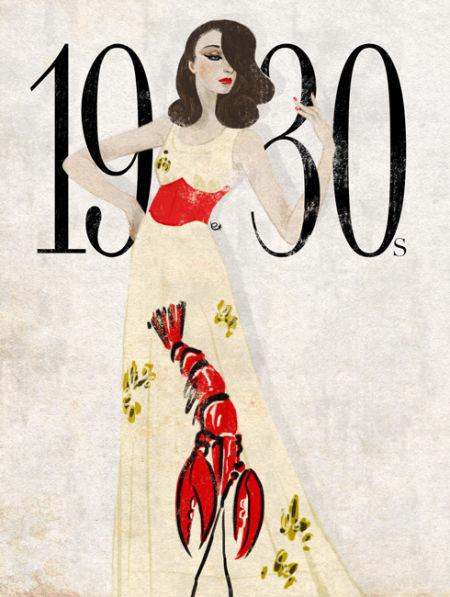 1930年代服装手绘插画-30年代elsa