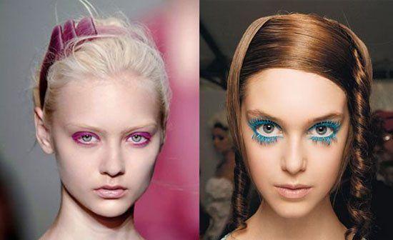 组图:炫彩妆容教你打造性感玫红色的睫毛