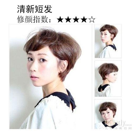 组图:让圆脸MM变身清新教主的春夏人气短发