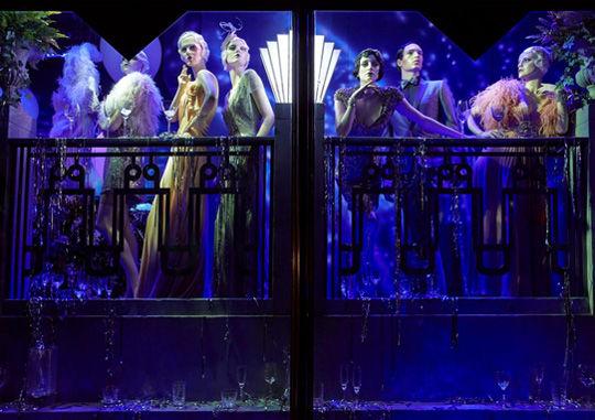 盖茨比主题让橱窗艺术在伦敦奢华呈现