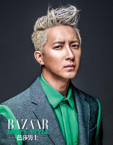 组图:韩庚而立之年前登《芭莎男士》封面