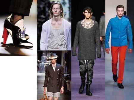 以Alexander McQueen、Raf Simons为首的设计师也把男装推向了远离男性气质的轨道