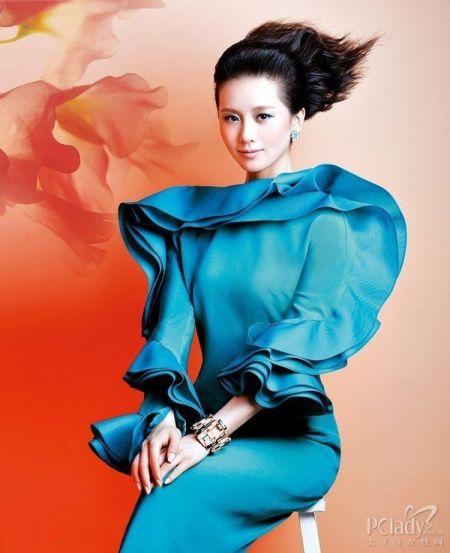组图:刘诗诗唯美大片发型一改往日清新风格