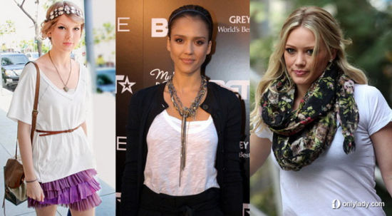 Taylor Swift, Jessica Alba and Hilary Duff