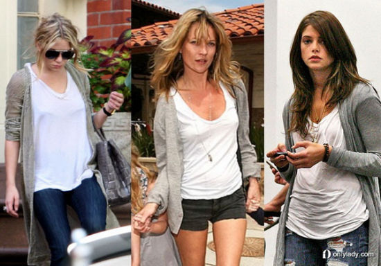 Ashley Olsen, Kate Moss and Ashley Greene