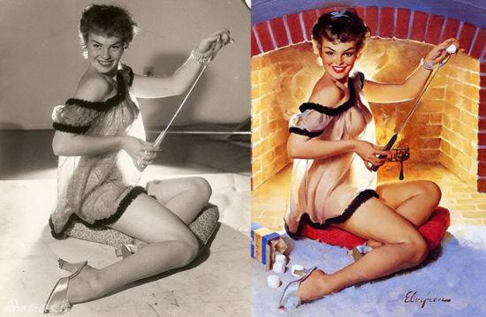组图:复古招贴画女郎展现肉感性感并存的魅力