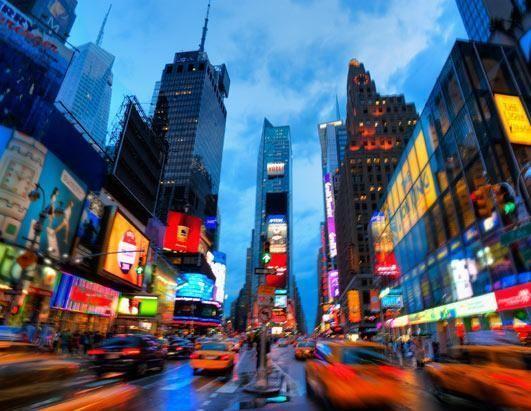纽约的时代广场和剧院区