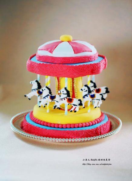 彩色生曰蛋糕简笔画