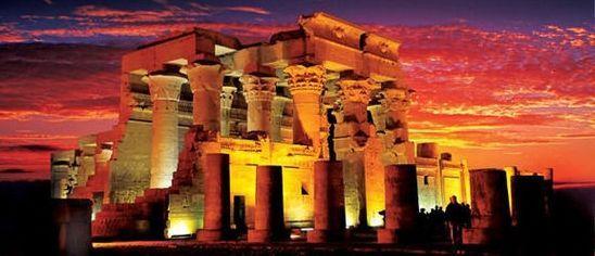 埃及鳄鱼神庙 夕阳霞光附体的神秘古殿