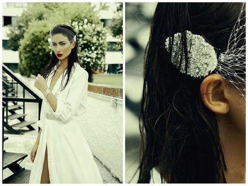 组图:灵感婚纱设计塑造新娘随性别样的空灵之美