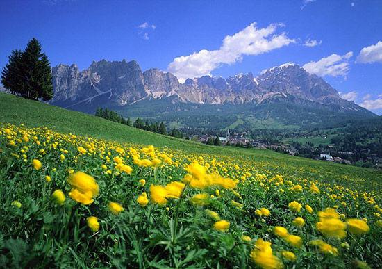 似若仙境的白云石山脉