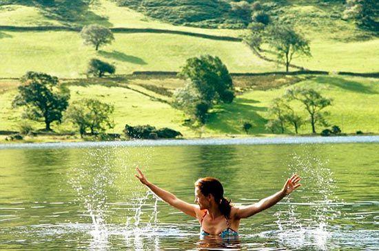 水上舞动在英国最深湖——Wasterwater