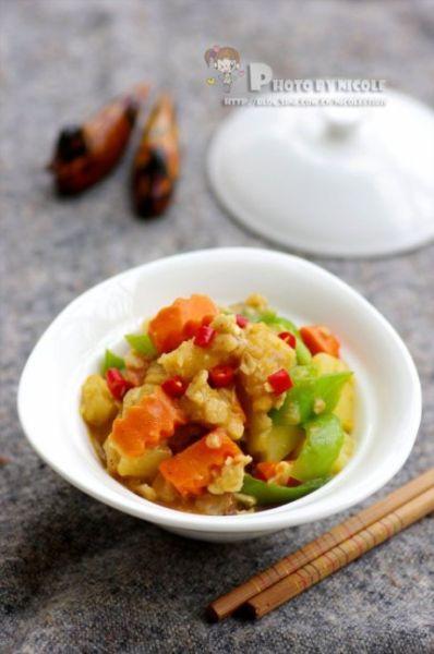 咖喱鳕鱼杂蔬煲