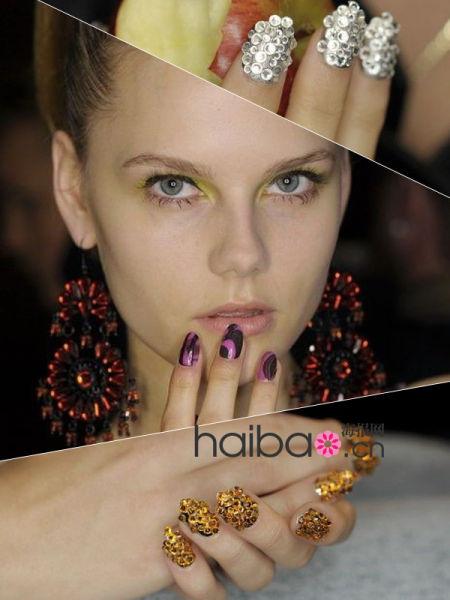 组图:异彩纷呈的指尖艺术成为最潮的时尚配件