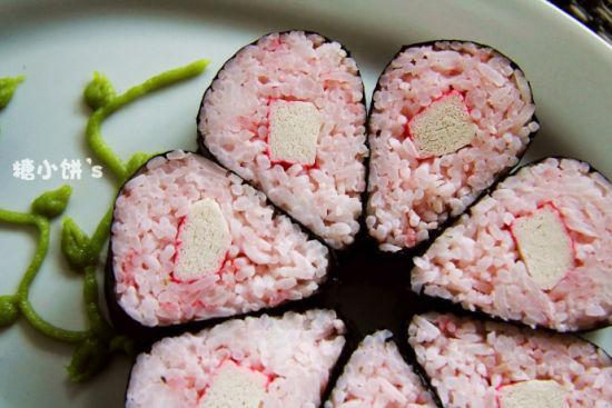 花朵寿司细节图