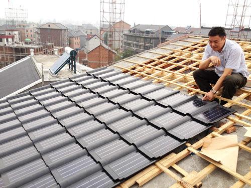 宁波建太阳能陶瓷瓦屋顶发电 用户不花一分钱