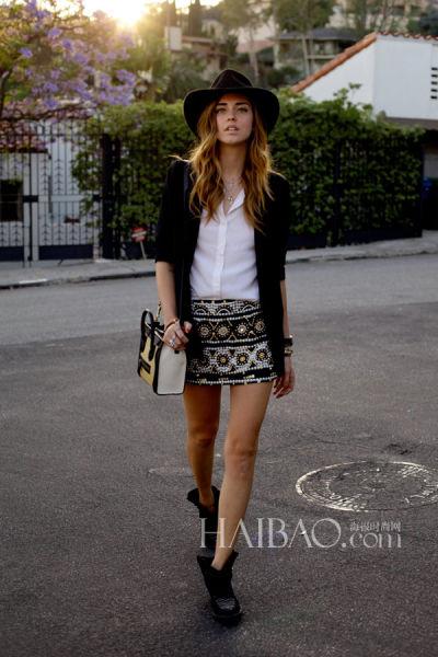 米兰时尚博主嘉拉·法拉格尼 (Chiara Ferragni)