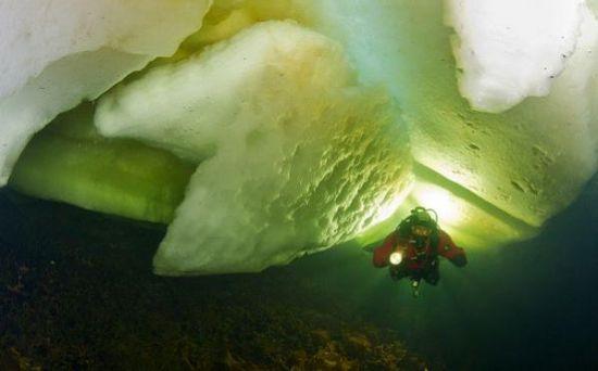 潜入厚冰之下