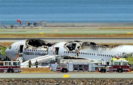 客机失事现场