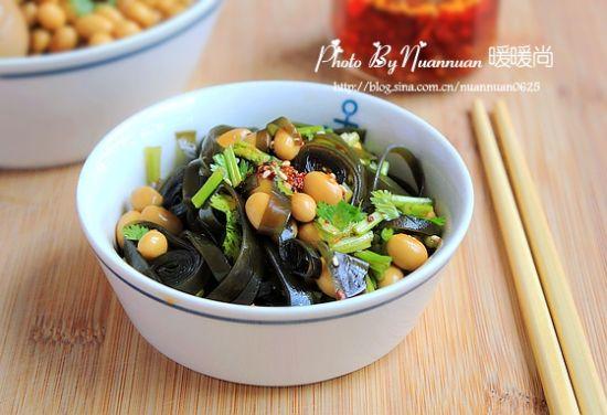 海带拌黄豆