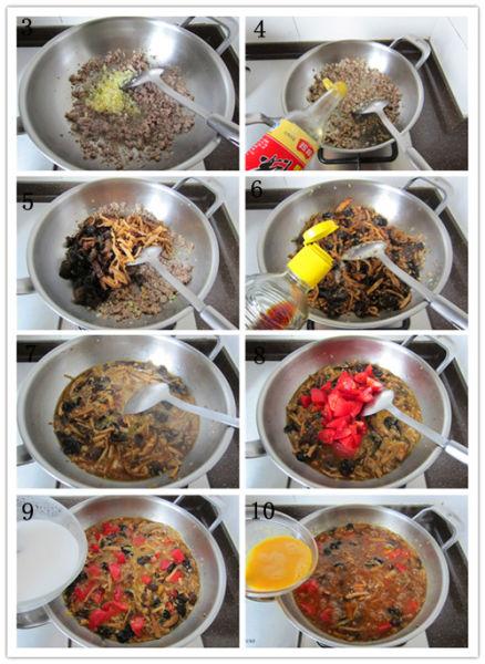 番茄肉末打卤面制作步骤